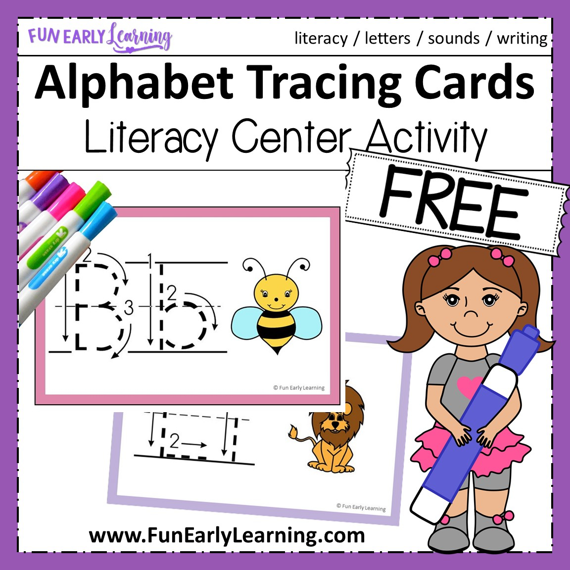 Teach Letters And Writing With Our Free Alphabet Animal