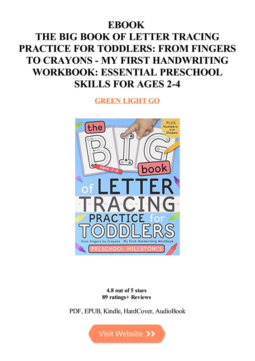 The Big Book Of Letter Tracing Practice For Toddlers From