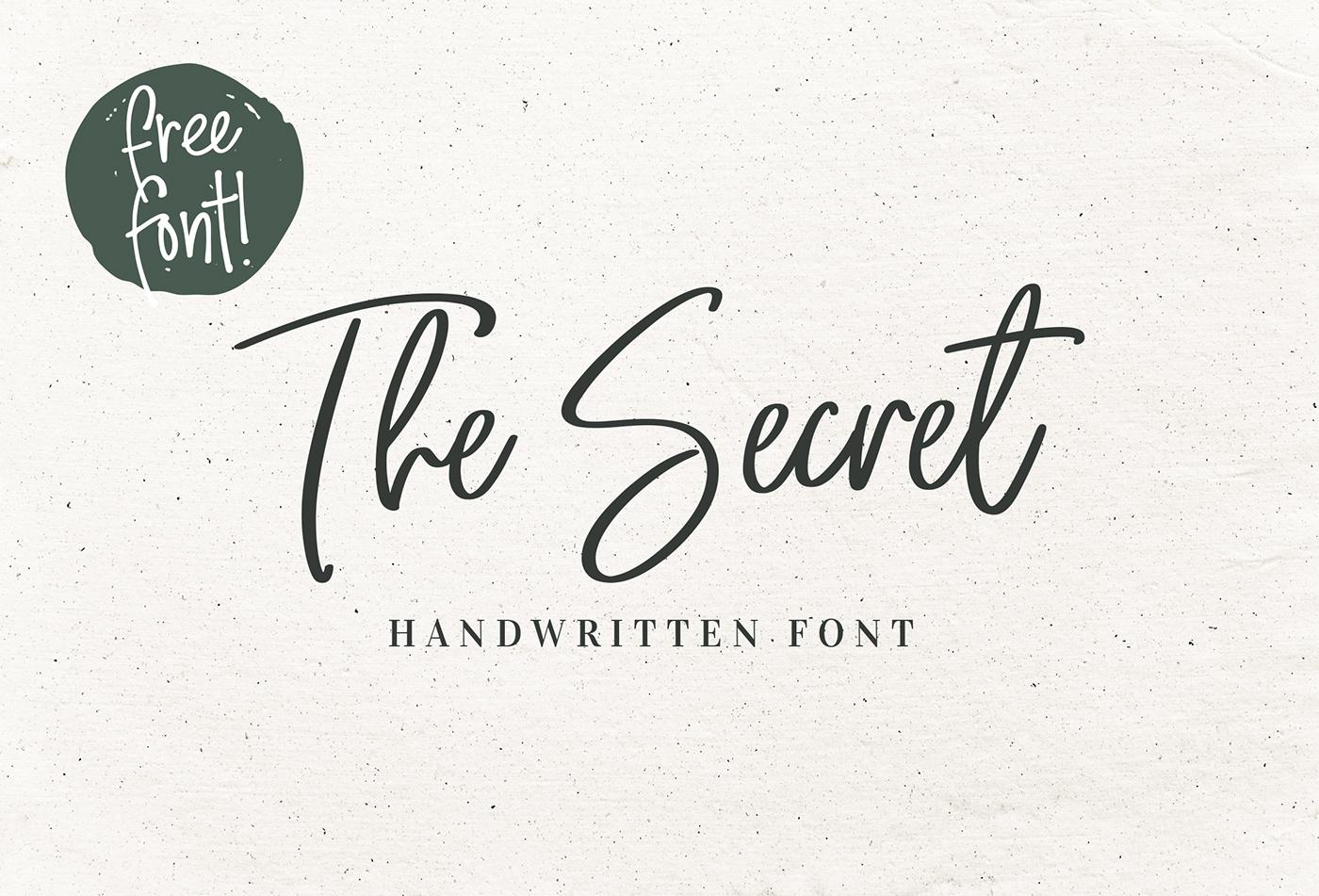 The Secret Script Font - Befonts