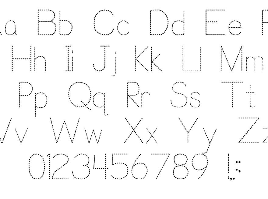 Trace Font For Kids | P. J. Cassel | Fontspace