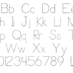 Trace Font For Kids | P. J. Cassel | Fontspace