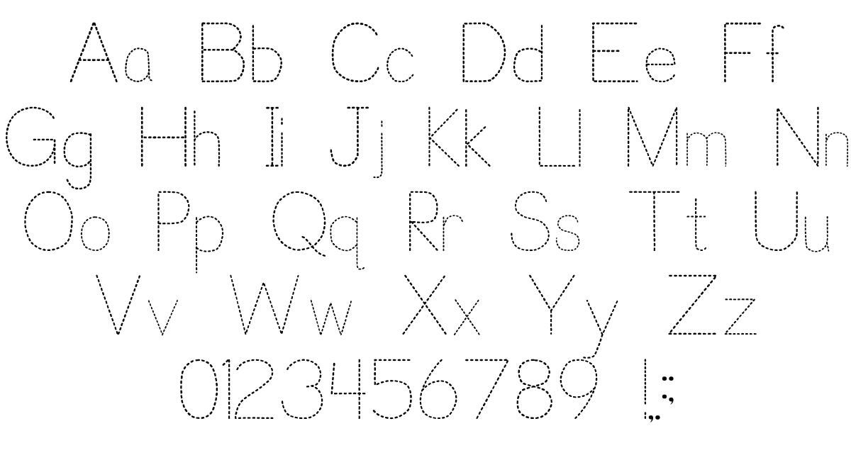 Trace Font For Kids   P. J. Cassel   Fontspace