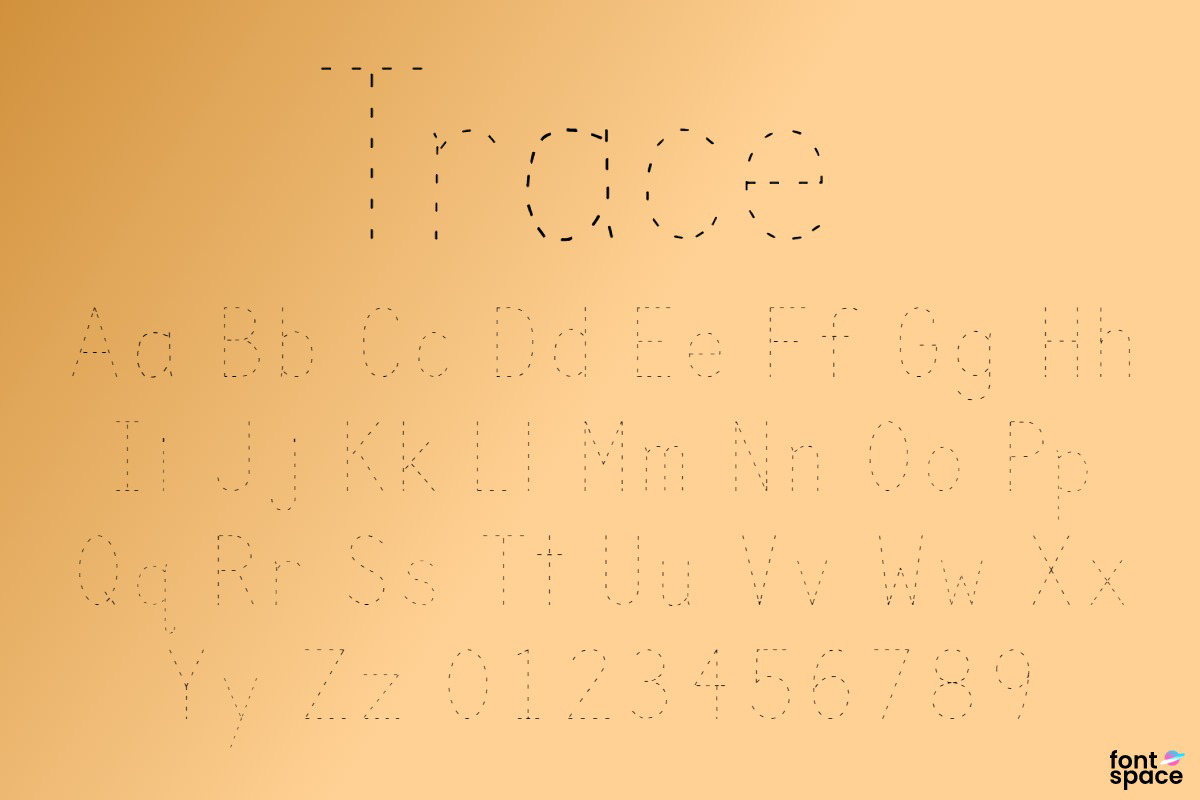 Trace Font   Kids Fonts   Fontspace