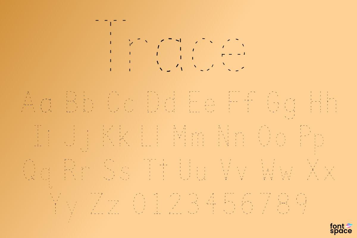 Trace Font | Kids Fonts | Fontspace