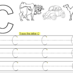 Trace Letter C Printable | Alphabet Worksheets Preschool