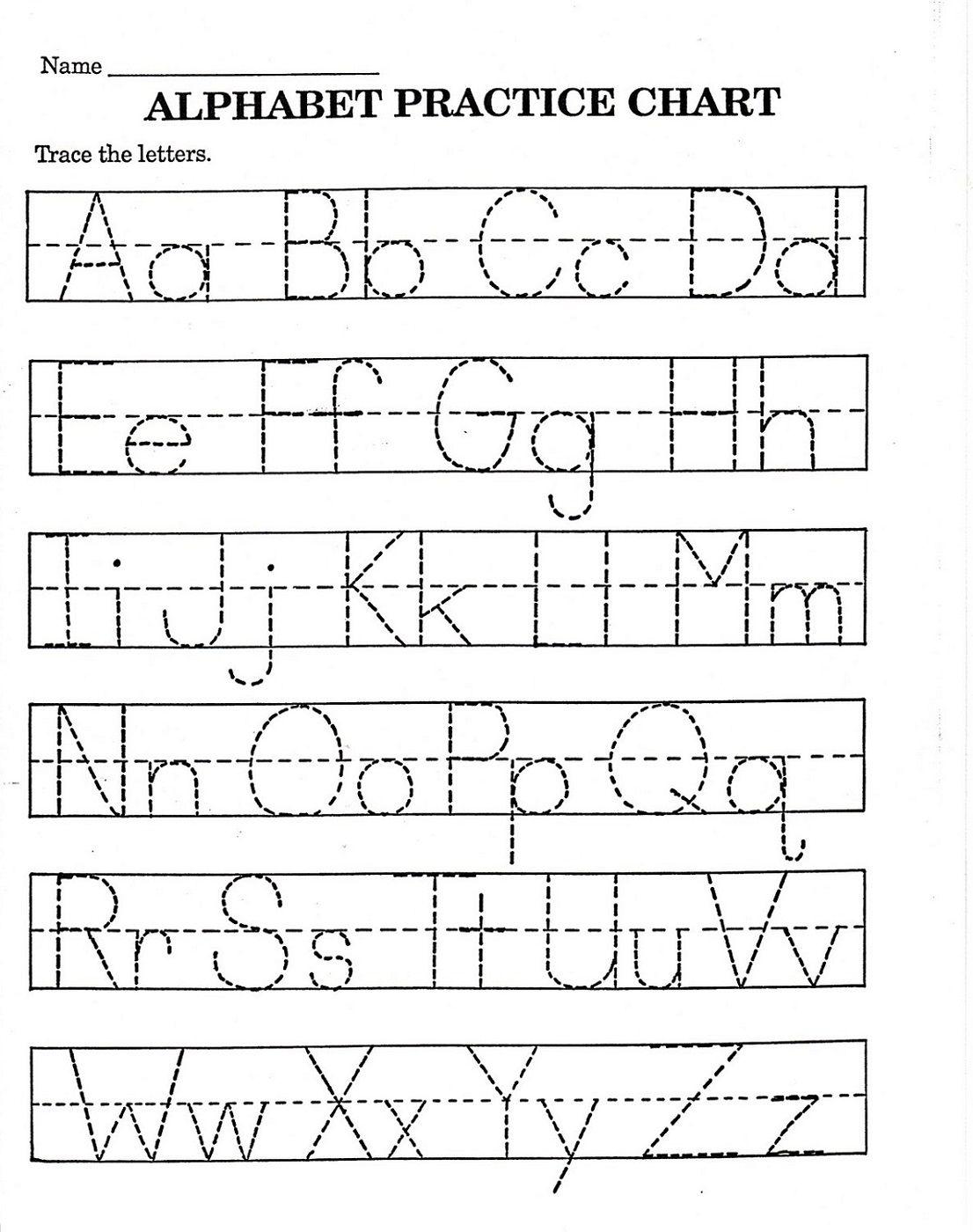 Trace Letter Worksheets Free | Printable Alphabet Worksheets