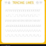 Trace Line Worksheet For Kids Basic Writing