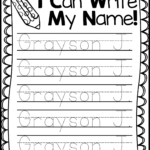 Trace My Name Worksheets | Activity Shelter
