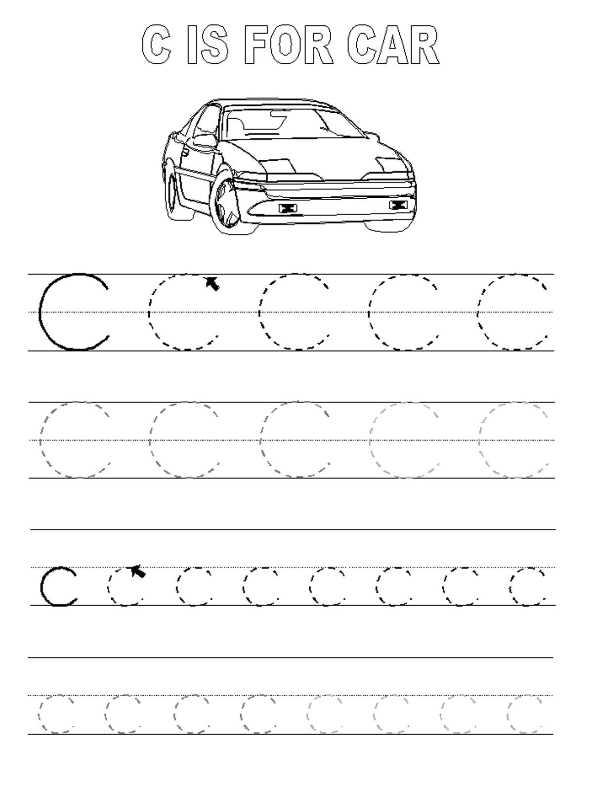 Trace The Letter C Worksheets | Abc Tracing, Alphabet