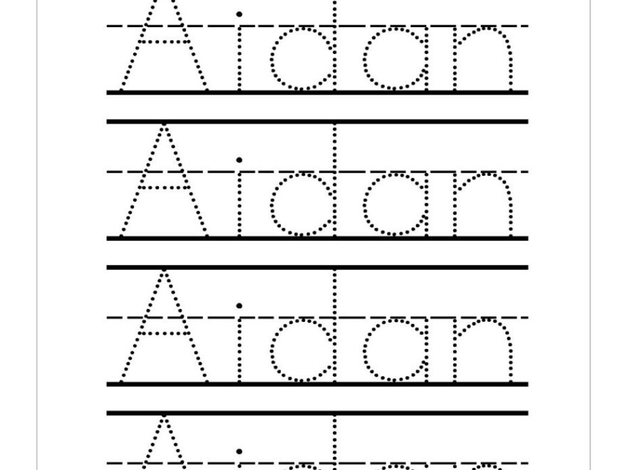 Trace Your Name Worksheets | Name Tracing Worksheets