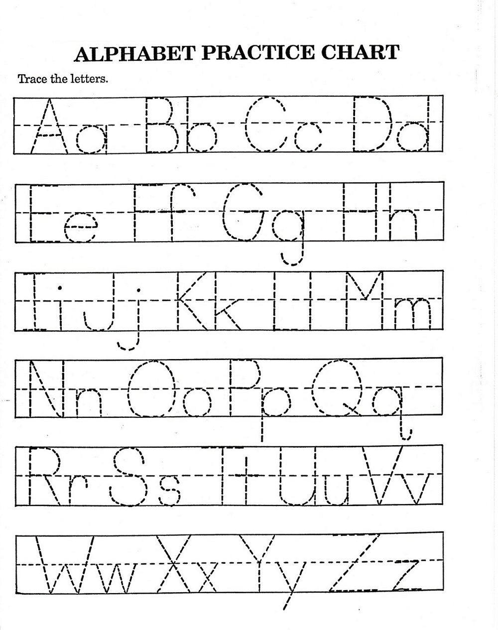 Traceable Alphabet Worksheets A-Z | Activity Shelter