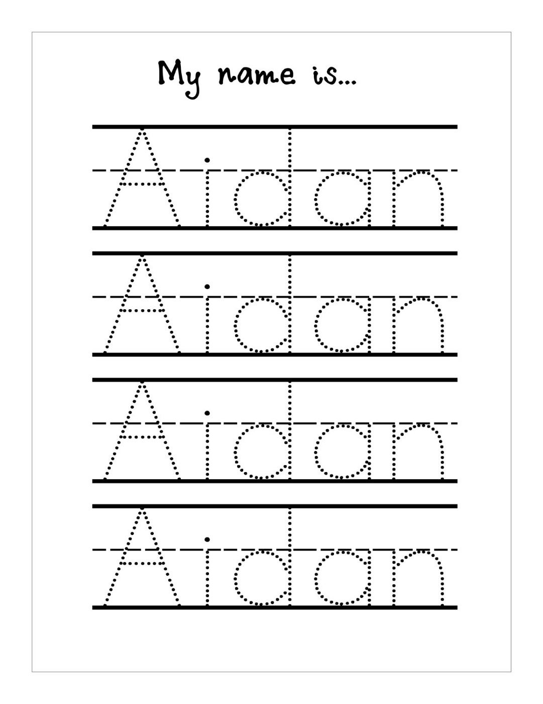 Traceable Name Worksheets | Name Tracing Worksheets, Tracing
