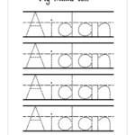 Traceable Names Worksheets | Activity Shelter