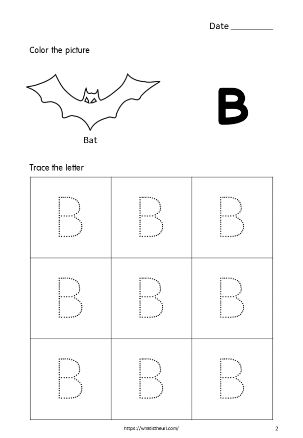 Tracing-Alphabet-Capital-Letter-B-For-Kids - Your Home Teacher
