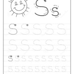Tracing Alphabet Letter S. Black And White Educational Pages