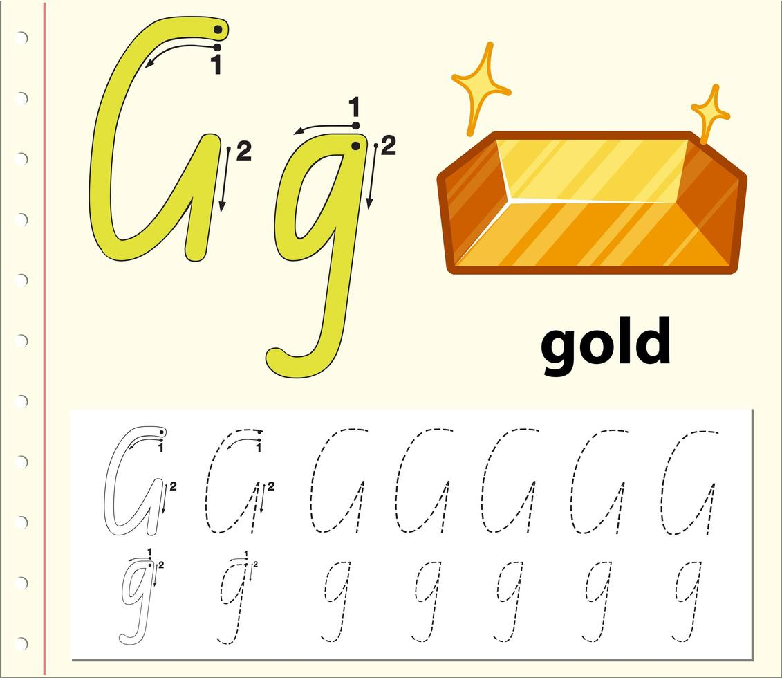 Tracing Alphabet Template For Letter G - Download Free