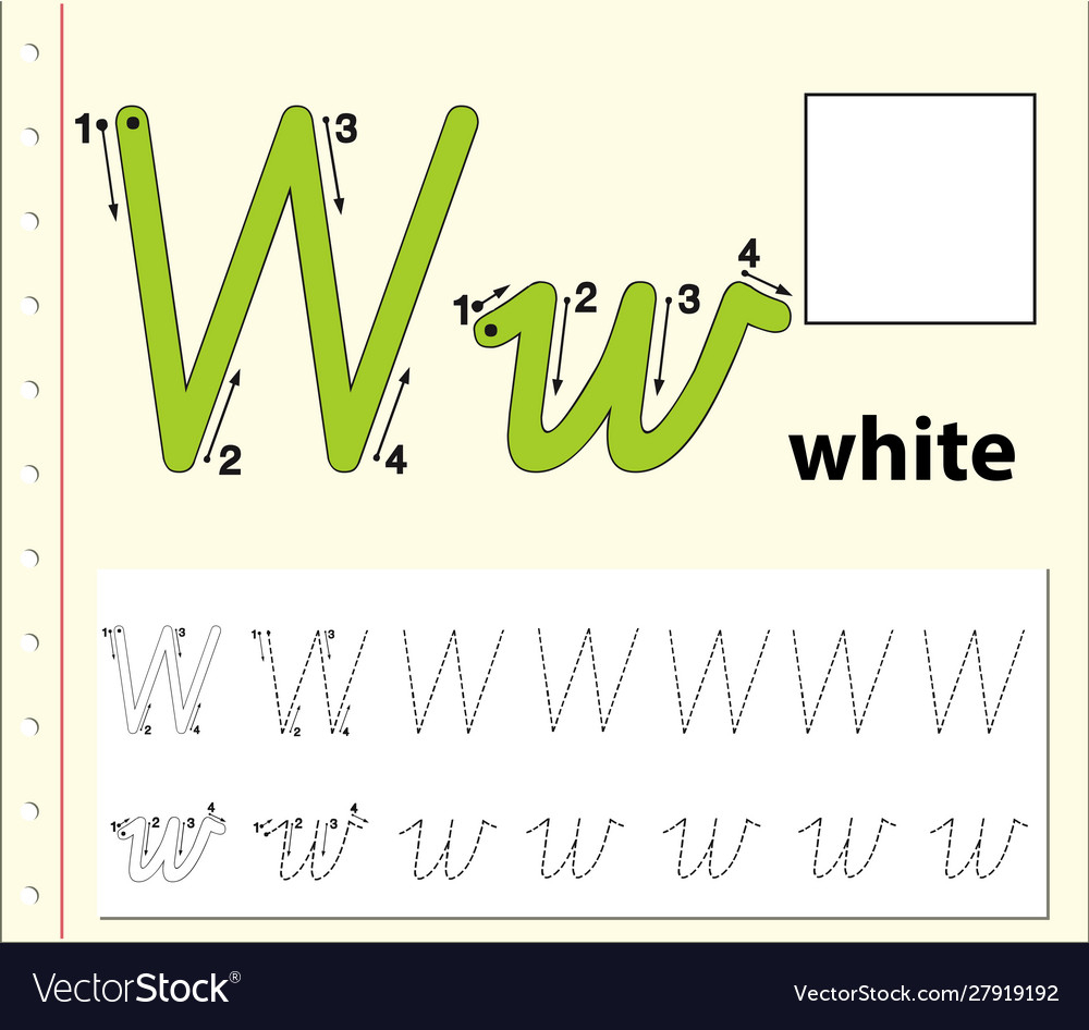 Tracing Alphabet Template For Letter W