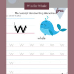 Tracing And Writing Letter W | Teaching Homeschool