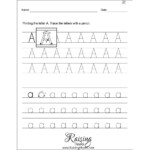 Tracing Each Letter A-Z Worksheets - Raising Hooks
