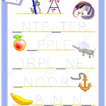 Tracing Letter A For Study English Alphabet. Worksheet For Kids