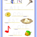 Tracing Letter N For Study English Alphabet. Printable