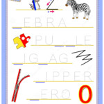 Tracing Letter Z For Study English Alphabet. Printable
