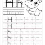 Tracing Letters H Worksheet. | #finemotorskills #preschooler