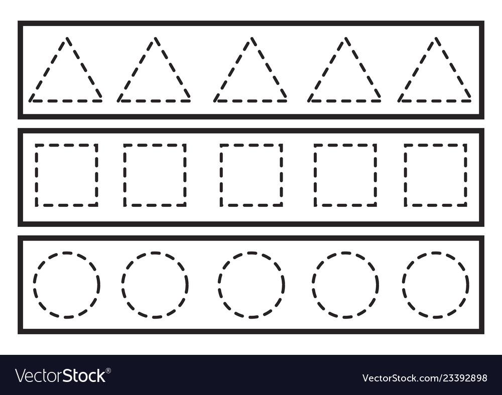 Tracing Lines For Preschool Or Kindergarten