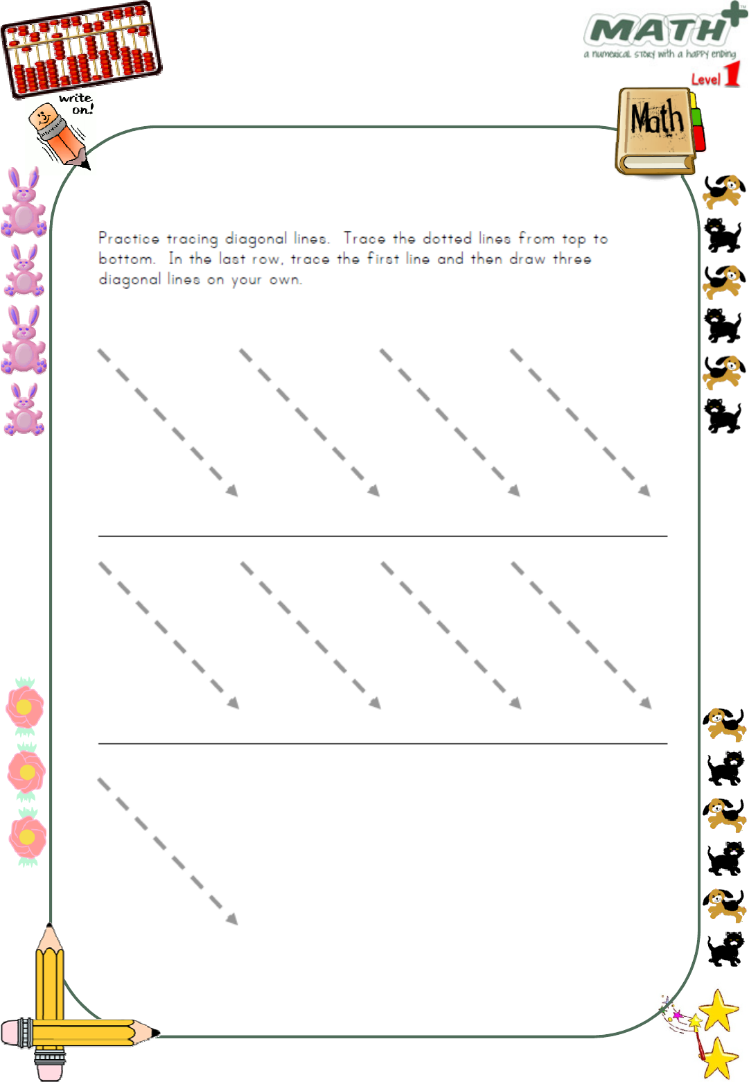 Tracing Lines Worksheet - [Pdf Document]