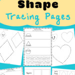 Tracing Shapes Worksheets - Fun With Mama