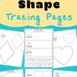 Tracing Shapes Worksheets - Fun With Mama