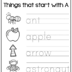 Tracing Words - Things That Start With A-Z | Alphabet