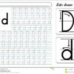 Tracing Worksheet -Dd Stock Vector. Illustration Of Made
