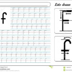 Tracing Worksheet -Ff Stock Vector. Illustration Of Language