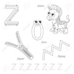 Tracing Worksheet For Children. Full English Alphabet From A..