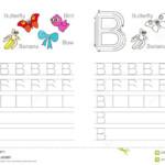 Tracing Worksheet For Letter B Stock Vector - Illustration
