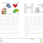 Tracing Worksheet For Letter H Stock Vector - Illustration