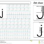 Tracing Worksheet -Jj Stock Vector. Illustration Of English