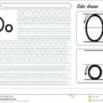Tracing Worksheet -Oo Stock Vector. Illustration Of