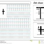 Tracing Worksheet -Tt Stock Vector. Illustration Of Made