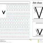 Tracing Worksheet -Vv Stock Vector. Illustration Of Kids