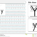 Tracing Worksheet -Yy Stock Vector. Illustration Of