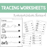 Tracing Worksheets Great For Distance Learning | Writing