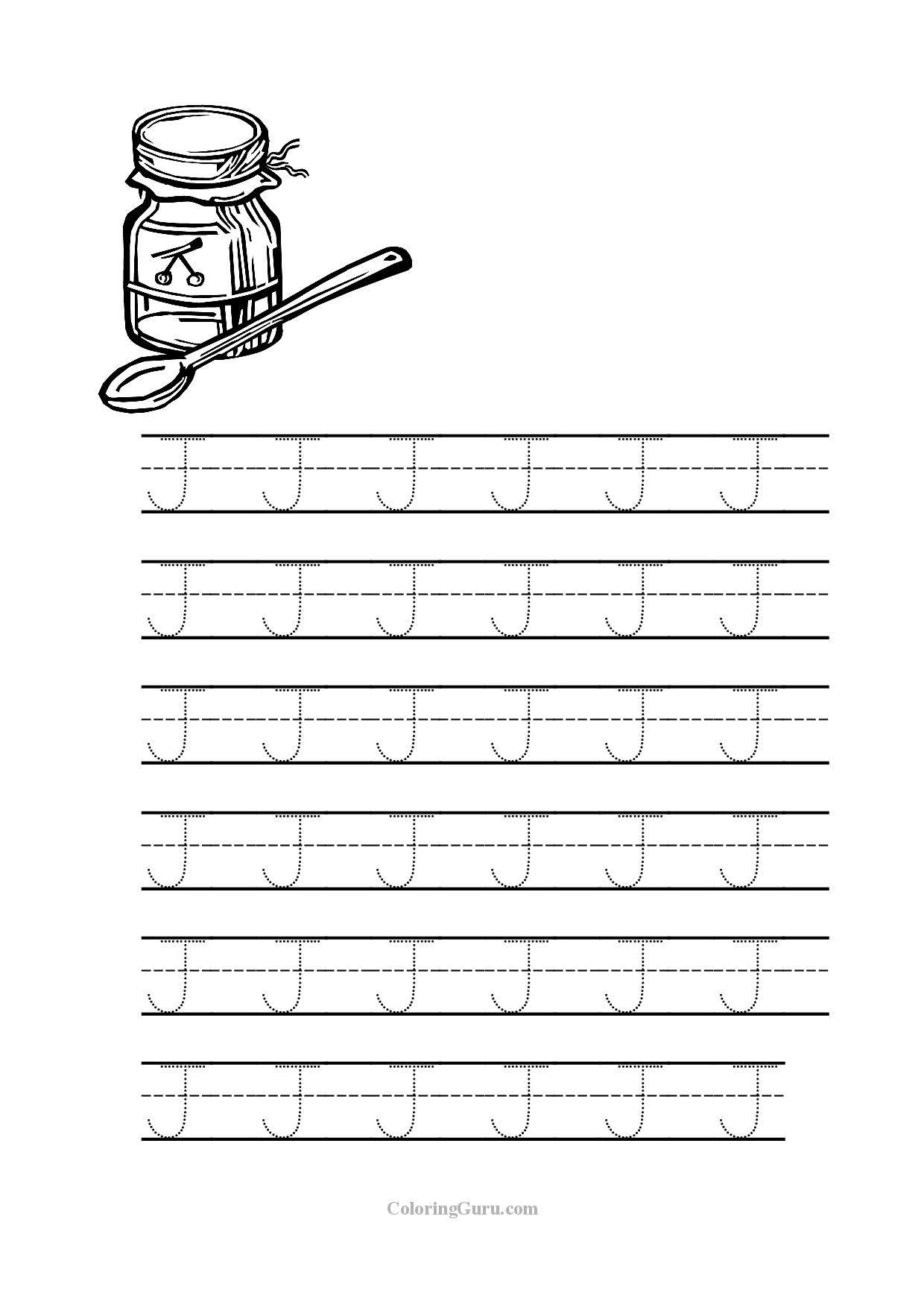 Tracing_Letter_J_Worksheets_For_Preschool 1,240×1,754