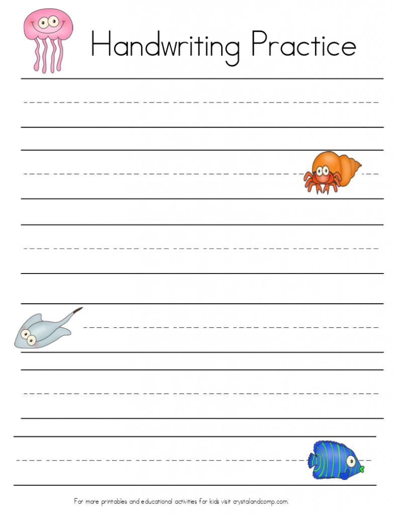 Under The Sea Themed Handwriting Sheets (Perfect For Story