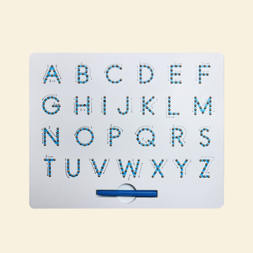 Us $12.84 27% Off|Magnetic Alphabet Letter Tracing Board With Stylus Pen  Educational Toy Set Learning Spelling Writing For Kids|Drawing Toys| -