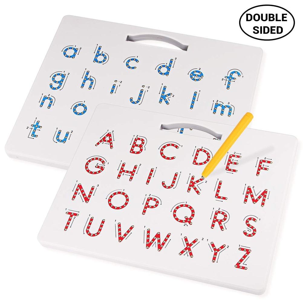 Us $21.71 47% Off|2 In 1 Magnetic Drawing Board Alphabet Letter Tracing  Board Educational Letters Read Write Learning Alphabet Preschool Gift #50|  | -