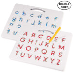 Us $22.32 23% Off|Double Sided Magnetic Drawing Board English Alphabet  Drawing Board Children's Puzzle Letters Reading And Writing Learning Toys|  | -