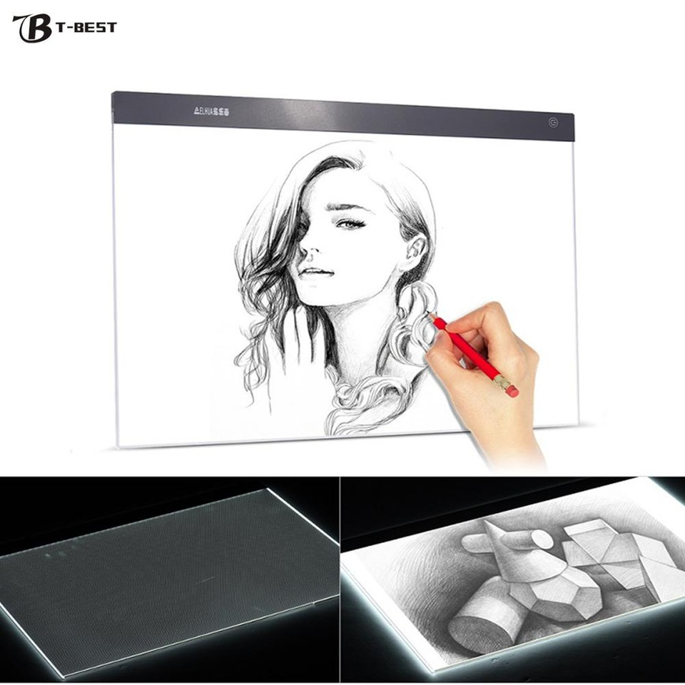 Us $45.53 15% Off|A2 Ultra Thin Led Light Pad Box Painting Tracing Panel  Copy Board Stepless For Cartoon Tattoo Tracing Drawing X Ray  Viewing|Digital