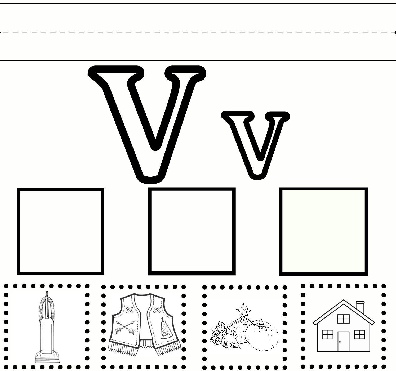 V Practice (With Images) | Letter V Worksheets, Preschool